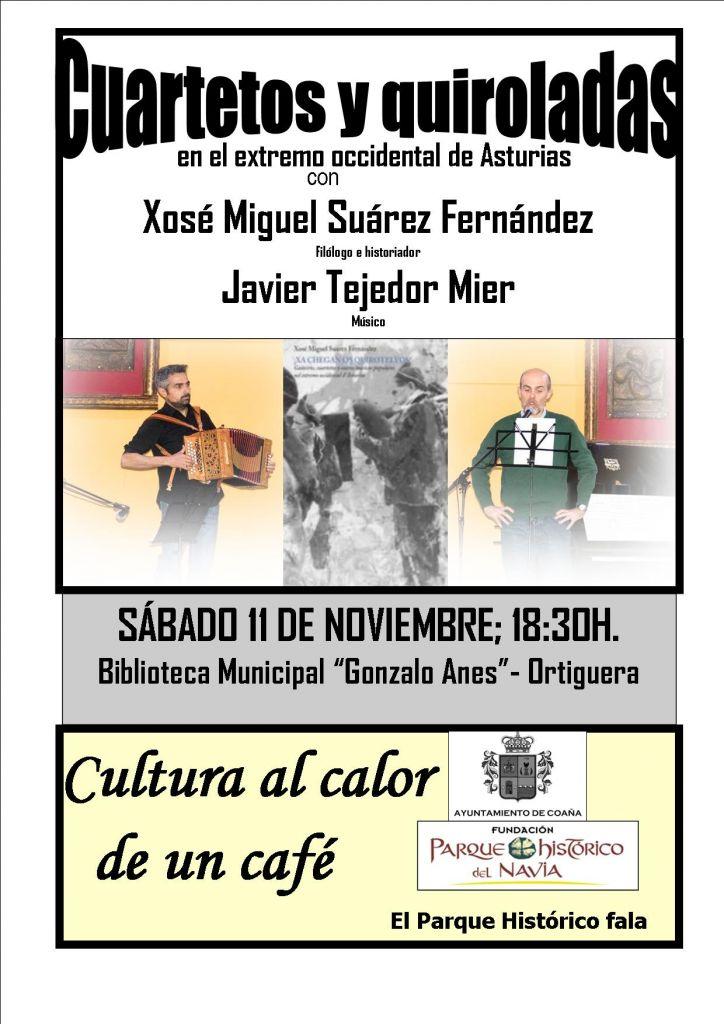 """""""Cuartetos y Quiroladas en el Extremo Occidental de Asturias"""", próxima actividad de """"Cultura al calor de un café"""" en Coaña"""