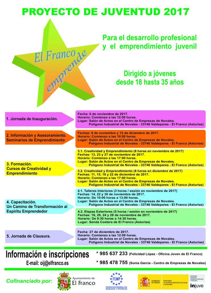 """""""El Franco Emprende"""", programa para el desarrollo profesional y emprendimiento juvenil"""