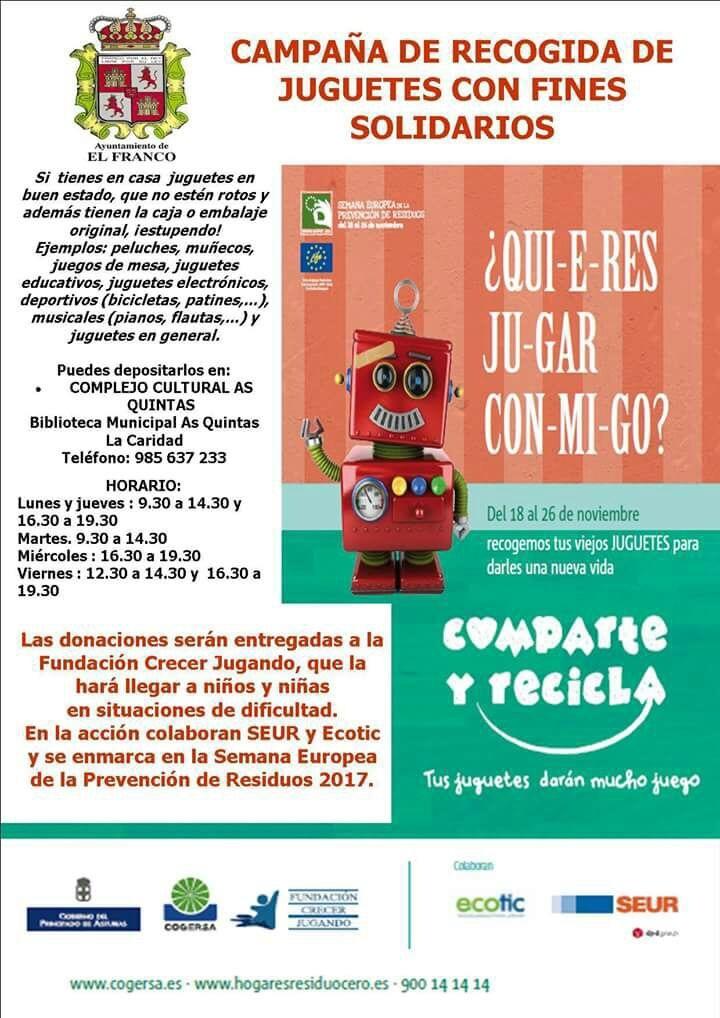 Recogida solidaria de juguetes en El Franco