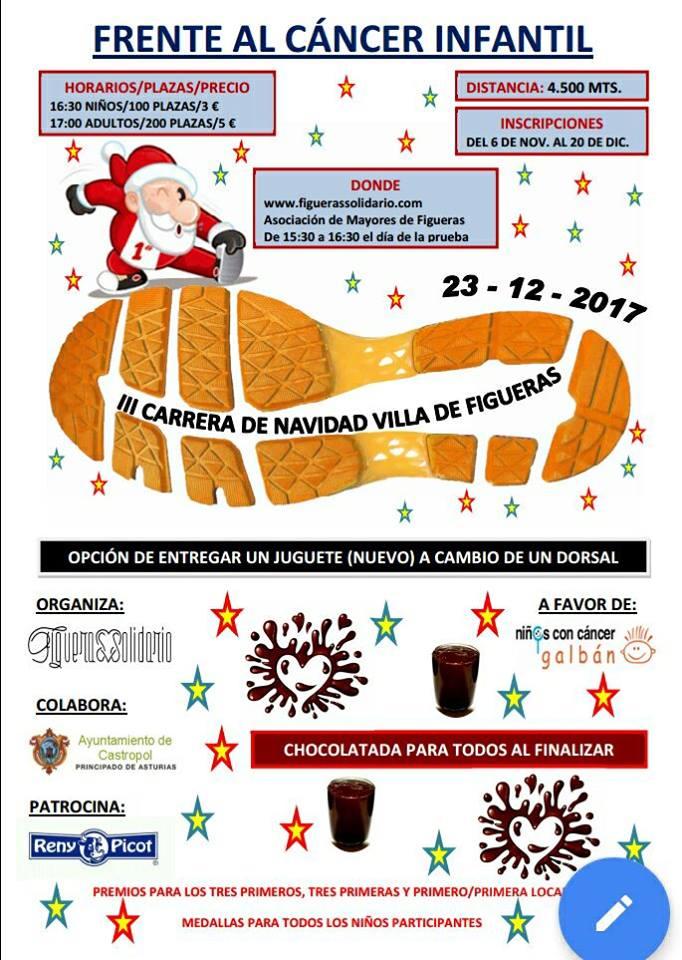 """Abiertas las Inscripciones para la 3ª Carrera Solidaria de Navidad """"Villa de Figueras"""