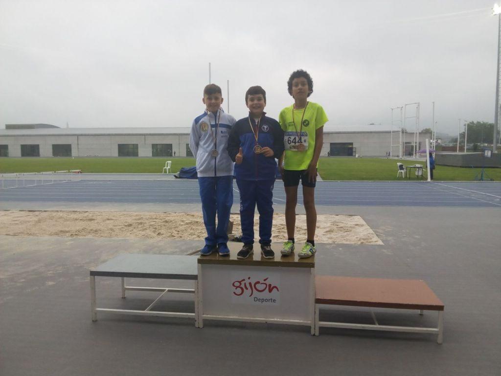 El Club Atletismo Occidente logra un oro y una plata en el Campeonato de Asturias de los Juegos Deportivos