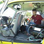 Un helicóptero sobrevuela Ribadeo para comprobar qué fincas no cumplen lo estipulado en la Ley de Incendios de Galicia