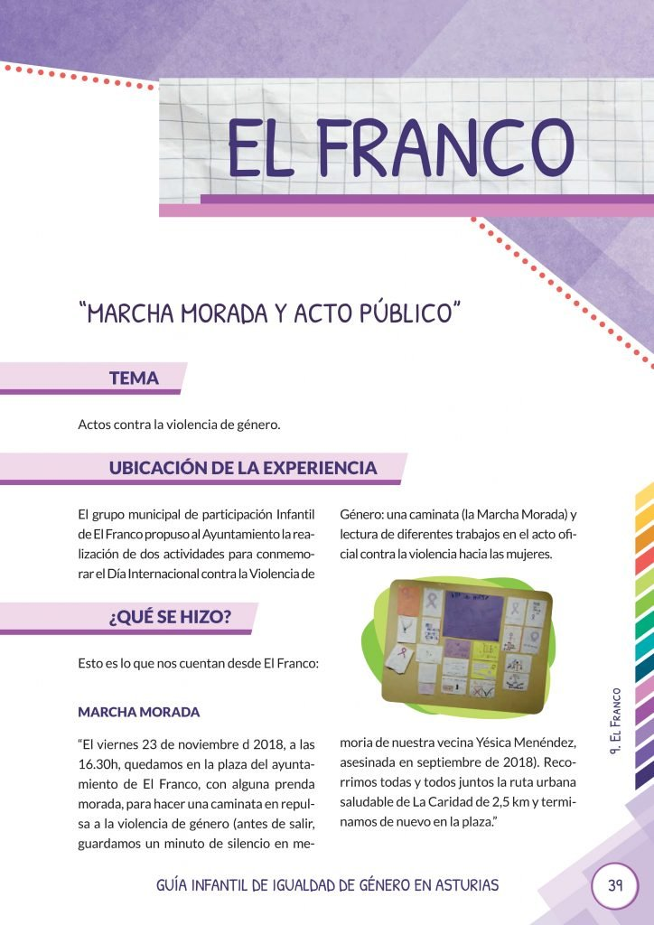 Se presenta la Guía Infantil de Igualdad de Género en Asturias, editada por la Consejería de Servicios y Derechos Sociales en colaboración con la de la Presidencia y Participación Ciudadana
